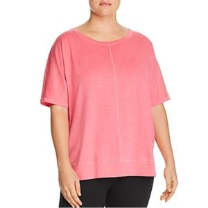Eileen Fisher Seamed Organic Cotton Top 2X Pink